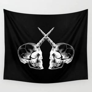 "Society6 Unicorn Skulls 2 Wall Hanging Tapestry by Vera Wong - Large: 88"" x 104"""