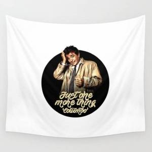 """Society6 Columbo - Tv Shows Wall Hanging Tapestry by G A R A B U T T O - Small: 51"""" x 60"""""""