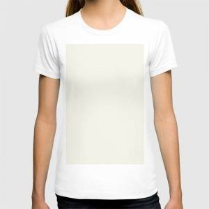 Society6 Simply Cream Graphic T-shirt by Simple Luxe - White - MEDIUM - Womens Fitted Tee