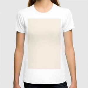 Society6 Rose Petal Cream Graphic T-shirt by Simple Luxe - White - MEDIUM - Womens Fitted Tee