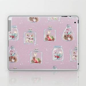 Society6 Christmas Pattern Pink Laptop & Ipad Skin by Wheimay - iPad (2nd, 3rd, 4th Gen)