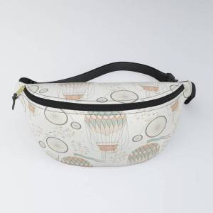 "Society6 Vintage Wonderland - Hot Air Balloon Fanny Pack by Shirts And Date Of Birth-by-frankenberg - One Size ( fits 23"" to 52"" around )"