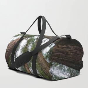 """Society6 Redwood Forest Adventure Vi - Nature Photography Travel/duffle Bag by Cascadia - MEDIUM - 20"""" X 10.5"""""""
