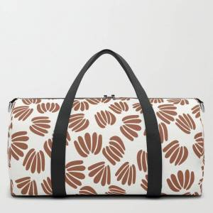 """Society6 Abstract Floral Vi Travel/duffle Bag by Design By B - MEDIUM - 20"""" X 10.5"""""""