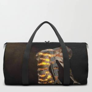 """Society6 Abstract Portrait Vi Travel/duffle Bag by Spacefrogdesigns - MEDIUM - 20"""" X 10.5"""""""