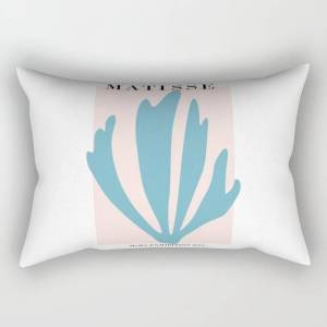 "Society6 Henri Matisse Baby Pink And Sky Blue Art Print, Modern Home Decor Rectangular Pillow by Mini Mons - Small (17"" x 12"")"