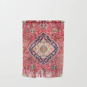 "Society6 Tabriz Antique Persian Rug Print Wall Hanging by Vicky Brago-mitchella(r) - Small 11 1/4"" x 15 1/2"""