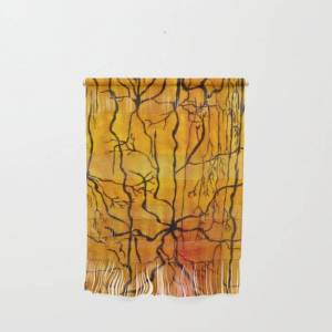 "Society6 Neural Activity (an Ode To Cajal) Wall Hanging by Ladyjennd - Small 11 1/4"" x 15 1/2"""