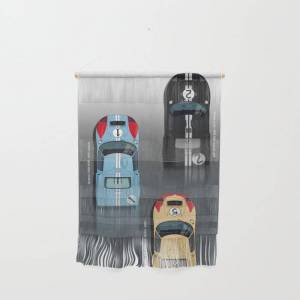 """Society6 Gt40 Le Mans 1966, Finish Side By Side Wall Hanging by Theodor Decker - Small 11 1/4"""" x 15 1/2"""""""