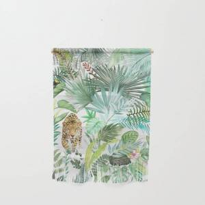 """Society6 Jungle Leopard Wall Hanging by Amini54 - Small 11 1/4"""" x 15 1/2"""""""