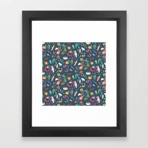Society6 A Very Aussie Christmas Framed Art Print by Melissa Mai - Vector Black - X-Small-10x12