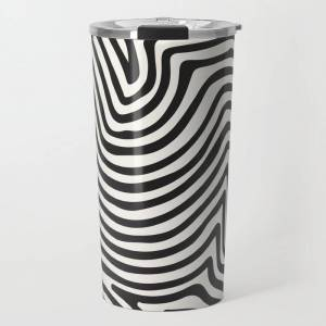 Society6 Abstract Line Art, Black And White Art, Abstract Art Print, Minimalist Poster, Abstract, Abstract Pr Travel Coffee Mug by Ap Posters - 20 oz