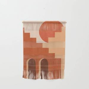 """Society6 Abstraction_sun_architecture_art_minimalism_001 Wall Hanging by Forgetme - Small 11 1/4"""" x 15 1/2"""""""