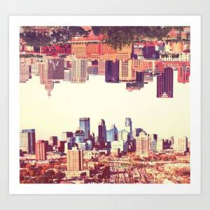 Society6 Twin Cities Art Print by Anthony Londer - X-Small