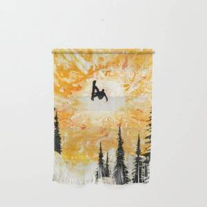 "Society6 Fire Sky Wall Hanging by Shred Art / Stu Leonard - Small 11 1/4"" x 15 1/2"""