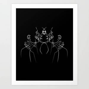 Society6 About Us Art Print by Lucia Mercedes - X-LARGE