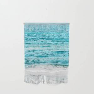 """Society6 Teal Ocean Wave Photography Wall Hanging by Bella Lifestyle - Small 11 1/4"""" x 15 1/2"""""""