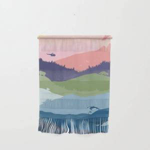 """Society6 Vancouver Landscape Wall Hanging by Mo Kalache - Small 11 1/4"""" x 15 1/2"""""""