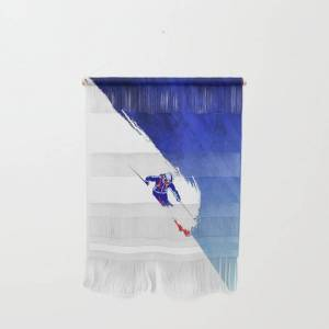 """Society6 Powder To The People Wall Hanging by Petermillen - Small 11 1/4"""" x 15 1/2"""""""