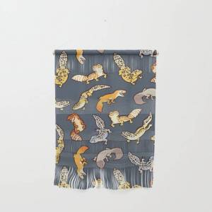 """Society6 Geckos In Black Wall Hanging by Colordrilos - Small 11 1/4"""" x 15 1/2"""""""