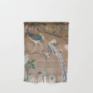 """Society6 Antique French Chinoiserie In Tan & White Wall Hanging by The Chinoiserie Pavillion - Small 11 1/4"""" x 15 1/2"""""""