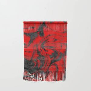 """Society6 Black & Red Marble I Wall Hanging by Artdesignworks - Small 11 1/4"""" x 15 1/2"""""""