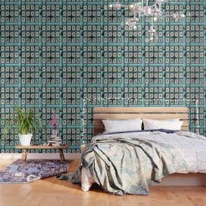 Society6 Persian Playing Cards Peel And Stick Wallpaper by Negin Khatoon - 2' X 8'