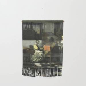 """Society6 Stolen Art - The Concert By Johannes Vermeer Wall Hanging by Podartist - Small 11 1/4"""" x 15 1/2"""""""