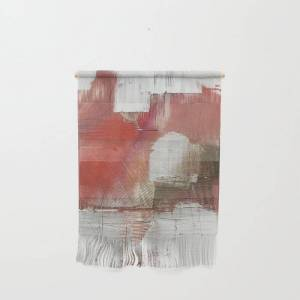 "Society6 The Little Things: A Minimal, Abstract Piece In Reds And Gold By Alyssa Hamilton Art Wall Hanging by Alyssa Hamilton Art - Small 11 1/4"" x 15 1/2"""