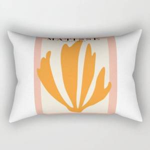 "Society6 Henri Matisse The Cut Outs Contemporary, Modern Minimal Art Rectangular Pillow by Mini Mons - Large (25.5"" x 18"")"