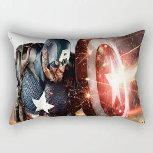 """Society6 Man Of Captain In America Rectangular Pillow by Active1 - Small (17"""" x 12"""")"""