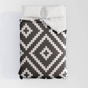 """Society6 Ikea Lappljung Ruta Inverse Comforters by Dizzy Moments - Full: 79"""" x 79"""" - Microfiber Polyester"""
