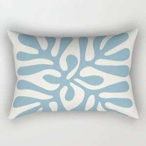 """Society6 Henri Matisse Abstract Cut Out Flower Lavender Minimal Contemporary Print Rectangular Pillow by Mini Mons - Large (25.5"""" x 18"""")"""