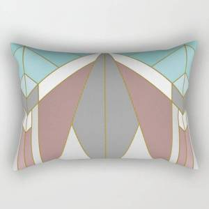 """Society6 Art Deco G2 (abstract Geometric) Rectangular Pillow by Absentis - Large (25.5"""" x 18"""")"""