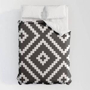 """Society6 Ikea Lappljung Ruta Inverse Comforters by Dizzy Moments - Queen: 88"""" x 88"""" - Microfiber Polyester"""