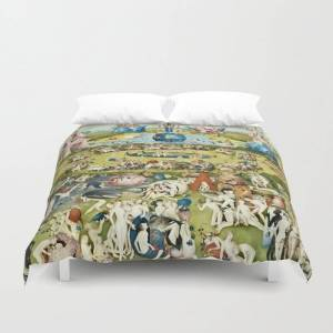 "Society6 Heironymus Bosch - The Garden Of Earthly Delights Duvet Cover by Fineartpaintings - King: 104"" x 88"""