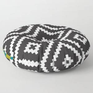"Society6 Ikea Lappljung Ruta Inverse Floor Pillow by Dizzy Moments - ROUND - 26"" x 26"""