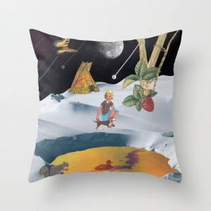 """Society6 K2 Mountain Couch Throw Pillow by Lerson - Cover (16"""" x 16"""") with pillow insert - Indoor Pillow"""