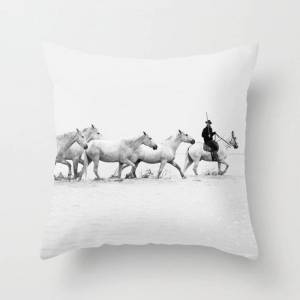 """Society6 Mon Cowboy Couch Throw Pillow by Eye Poetry Photography - Cover (16"""" x 16"""") with pillow insert - Indoor Pillow"""
