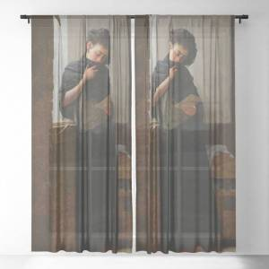 """Society6 Longing (saudade) By Almeida Junior Sheer Curtains & Drapes by Elegant Chaos Gallery - 50"""" x 84"""" - Set of Two"""
