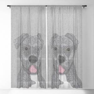 """Society6 Junior Sheer Curtains & Drapes by Artlovepassion - 50"""" x 84"""" - Set of Two"""