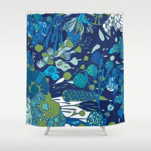 """Society6 Water You Talking About? Bathroom Shower Curtain by Jennifer Bianco - 71"""" by 74"""""""