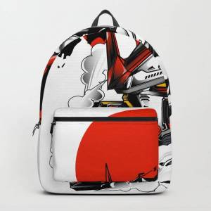 Society6 Astray Red Frame Bust F-12 Backpack/knapsack by Syndicatestudio - STANDARD