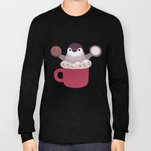 Society6 Cookie & Cream & Penguin Long Sleeve T-shirt by Pikaole - Black - MEDIUM - Long Sleeve T-shirt