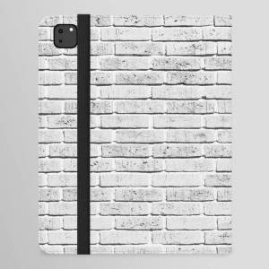 """Society6 Vintage Style Rustic White Brick Wall Texture Ipad Folio Case by Eclectic - iPad Pro 12.9"""" Folio"""