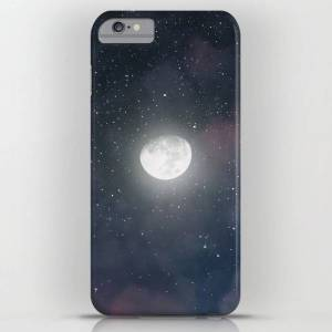 Society6 Glowing Moon On The Night Sky Through Pink Clouds Iphone Case by V. Avvacumova - iPhone 6s Plus - Slim Case