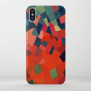Society6 Grun-rot Otto Freundlich 1939 Abstract Art Mid Century Modern Geometric Colorful Shapes Hard Edge Iphone Case by Enshape - iPhone XS Max - Slim Case