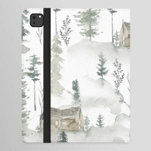 "Society6 Winter Scene Houses And Trees Pattern Ipad Folio Case by Artonwear - iPad Pro 12.9"" Folio"