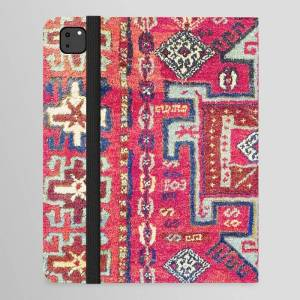 "Society6 Malatya  Antique Kurdish Turkish Rug Print Ipad Folio Case by Vicky Brago-mitchella(r) - iPad Pro 12.9"" Folio"