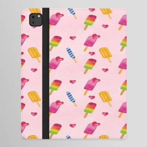 """Society6 Popsicle - Ice Lolly - Ice Cream - Watercolor Ipad Folio Case by Art-by-lang - iPad Pro 12.9"""" Folio"""